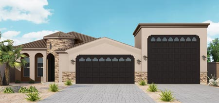 Front Elevation w-RV with RV garage view revised
